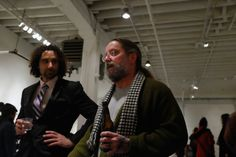 Nick De Pirro and David T Miller at the PAIR opening reception at PROTO Gallery