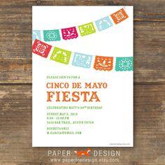 Cinco De Mayo Fiesta Party Invitation