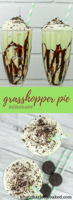 Grasshopper Pie Milkshakes http://whatcharlottebaked.com/2018/03/14/grasshopper-pie-milkshakes/