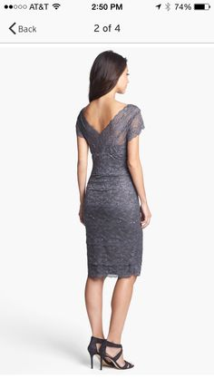 Nordstrom Marina tiered lace dress #wedding #lovetheshoes