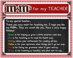 Download Free M Teacher Poem Tag for M Gift Jar this Christmas