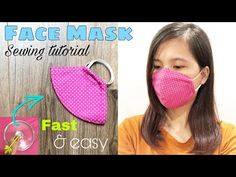 [Fast & Easy] Face Mask Sewing Tutorial | How to make a cloth face mask at home - YouTube At Home Face Mask, Easy Face Masks, Diy Face Mask, Diy Sewing Projects, Sewing Hacks, Sewing Tutorials, Crochet Mask, Homemade Mask, Simple Face