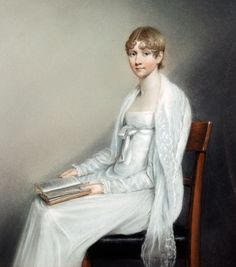 Caroline Darwin 1816 (aged about 16 years) by James Sharples.  Caroline Sarah Darwin (1800–1888) sister of Charles Darwin, married Josiah Wedgwood (grandson of the first Josiah Wedgwood) (her first cousin).