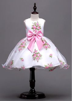 DressilyMe Bridal Dresses Online,Wedding Dresses Ball Gown, in stock graceful flora organza jewel neckline ball gown flower girl dress with bowknot Baby Girl Party Dresses, Little Girl Dresses, Flower Girl Dresses, Kids Dress Wear, Kids Gown, Ball Dresses, Cute Dresses, Formal Dresses, Bridal Dresses Online