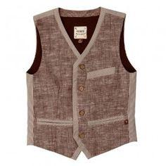 2-Tone Linen Vest - @Fore!!Axel