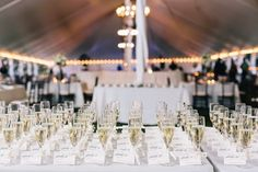 Top 5 Glamorous Wedding Trends 2016 - MODwedding- champagne escort cards
