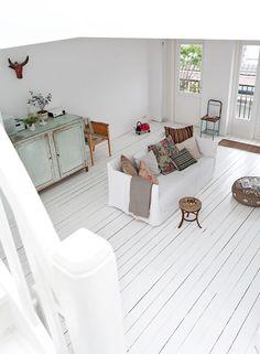 Hvide gulve