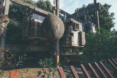 oliver astrologo photographs the ruins of rome's casa sperimentale