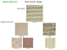 New Robin Bruce fabrics and suggested correlates.