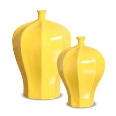Vasos Decorativos Real Amarelo 29x19 - 24x16 cm