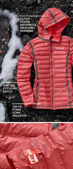 Warm or dry? Pick two. Our OutDry™ Extreme Gold Down Jacket is tested tough in the Pacific Northwest where rain isn't a forecast, it's an entire season. Shop Columbia's first waterproof puffy jacket, filled with responsibly sourced 700-fill power down.