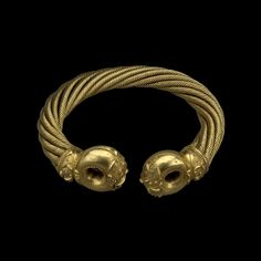 The Great Torc of Snettisham, Iron Age, about 75 BC, Found at Ken Hill, Snettisham, Norfolk, England