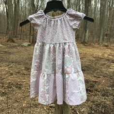 Girls size 4 dress in pink and gray