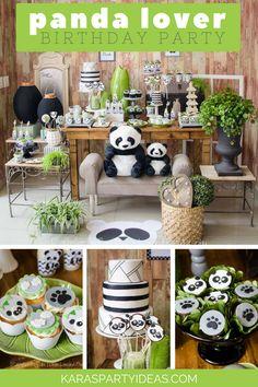 Panda and Love Hearts❣️ Panda Themed Party, Panda Birthday Party, Kids Birthday Themes, Panda Party, Boy Birthday Parties, Panda Decorations, Shark Party Decorations, Party Themes, Party Ideas