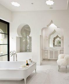 salle de bain marocaine | Bassin Interieur | Pinterest | House