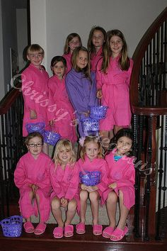 1c16087995 Personalized Spa Robes for Little Girls. So cute for a girls birthday party!