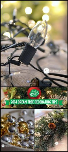 DIY Christmas Tree Decorating Tips | 2014 #michaelsmakers #tagatree