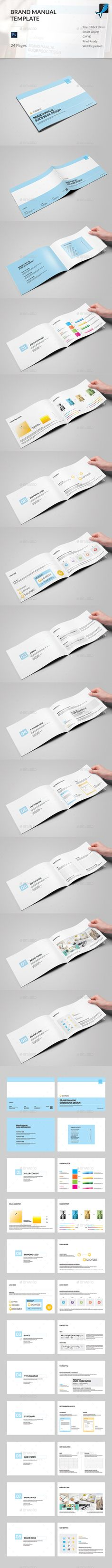 Brand Manual  Brand Manual Indesign Templates And Annual Reports