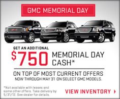 memorial day used car sales 2014