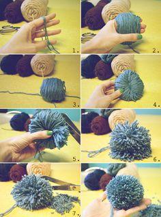 DIY: pom pom necklace & scarf