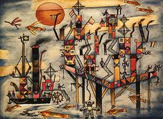 """Luis Gianneo - Obertura para una comedia infantil Pintura: Xul Solar """"Puerto Azul"""" - The music published in our channel is exclusively dedicated . Cobra Art, Max Ernst, 1920s Art, Art Database, Outsider Art, Famous Artists, American Artists, Figurative Art, Surrealism"""