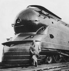 K4S Locomotive, 1936, for Pennsylvania Railroad  #locomotive #photo #monogram #train #railway #old #history #motor #engine #curves #black