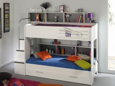 Bibop White Bunk Bed with Guest Bed | Kids Beds from FADS