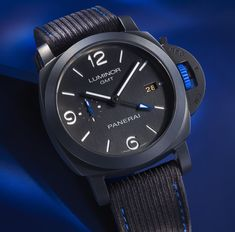 *Blog Update - Read iN!* #Panerai 44mm Luminor GMT Bucherer Blue🌊⌚️ Black Ceramic with Blue Tones * xxx/288 Limited Edition!!🎉