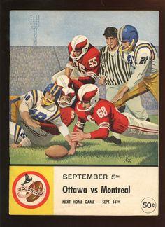 9-5 1960 Canadian Football League Program Ottawa Roughriders vs Montreal Alouett  | eBay