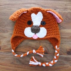 Not 2 late to craft: Barret-gos de ganxet / Crochet dog hat pattern