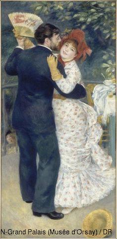 Pierre Auguste Renoir (1841-1919) Country Dance 1883 Oil on canvas H. 180; W. 90 cm Paris, Musée d'Orsay © RMN-Grand Palais (Musée d'Orsay) / DR