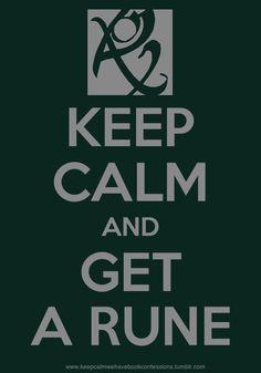 Keep calm an get a rune
