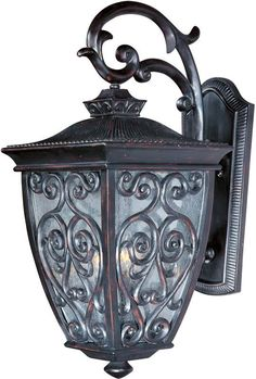 "Maxim 40125 3 Light 25"" Tall Outdoor Wall Sconce from the Newbury VX Collection Oriental Bronze / Seedy Glass Outdoor Lighting Wall Sconces Outdoor"