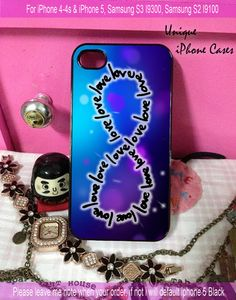 infinity love - iPhone 4 / iPhone 4S / iPhone 5 / Samsung S2 / Samsung S3 / Samsung S4 Case Cover