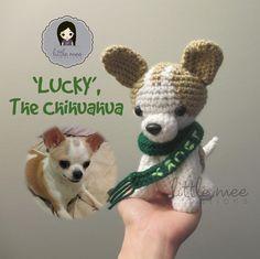 Free Crochet Dog Pattern-- : 'Lucky', the Chihuahua Dog Amigurumi Crochet Dog Patterns, Amigurumi Patterns, Chihuahua Dogs, Chihuahuas, Amigurumi Doll, Crochet Amigurumi, Crochet Animals, Stuffed Toys Patterns, Crochet Dolls