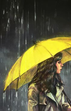 A sárga esenyős lány (The girl with the yellow umbrella)-HIMYM Tracy Mosby, Ted Mosby, Yellow Umbrella, Umbrella Art, Dont Deserve You, Wallpaper Fofos, Ned Stark, Train Art, Singing In The Rain