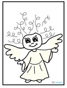 Anděl - pracovní list, grafomotorika