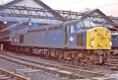 40104 at Longsight ECS winter (C) Peter Blunn on fb Electric Locomotive, Diesel Locomotive, Train Room, British Rail, Whistler, Diesel Engine, Airplane, Engineering, Around The Worlds