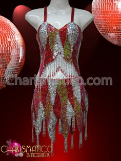 Charismatico Dancewear Store - CHARISMATICO Patchwork Red, Pink, and White Sequined Mini-Dress With Fringed Hem , $149.00 (http://www.charismatico-dancewear.com/charismatico-patchwork-red-pink-and-white-sequined-mini-dress-with-fringed-hem/)