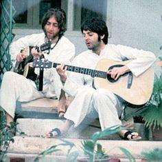 John and Paul (circa Beatles Songs, The Beatles, Maharishi Mahesh Yogi, Jerry Garcia Band, Lennon And Mccartney, The White Album, Sir Paul, New York Times Magazine, The Fab Four