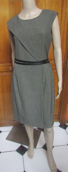 Calvin Klein Olive Sleeveless Double Belt fully Lined Work Dress Sz 10 NWT #CalvinKlein #Sheath #WeartoWork