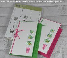 Stempelkrempel mit Papier Genial Vertikal in Grasgrün und Wassermelone
