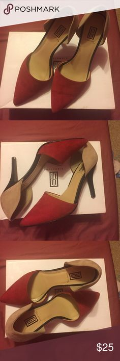 Jessa d'Orsay Pump by Signature Red/Beige/Black Jessa d'Orsay Pump by Signature Size 11 Shoe Dazzle Shoes Heels