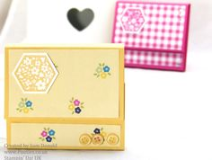 Pootles Stampin Up Gingham Garden Post it note Holders 2 (2)