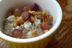 Savory Oatmeal: Gorgonzola, Walnut and Grape
