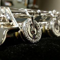 Beautiful engraving on an Altus flute. #Altus #flute #flutist