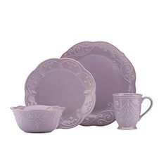 Lenox French Perle Violet 4 Piece Place Setting