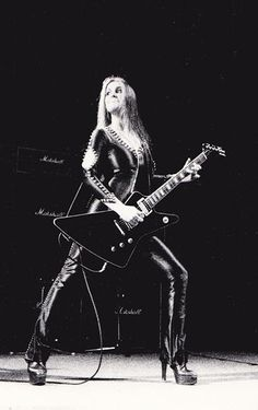 Lita Ford with The Runaways on Nov 18 1977 touring in Finland.