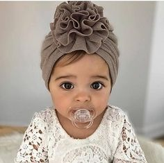 NEW Ruffle Turban in Assorted Colors Shop Trendy Hair Accessories at SugarBabies Baby Clothes Online, Trendy Baby Clothes, Trendy Girl, Baby Turban, Cute Baby Girl, Cute Babies, Baby Kids, Baby Girl Fashion, Kids Fashion