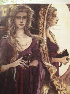 Snow White, internals - Trina Schart Hyman